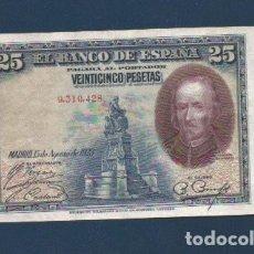 Billetes españoles: 25 PTAS DE 1928 . SIN SERIE . EBC. LEER. Lote 262427820
