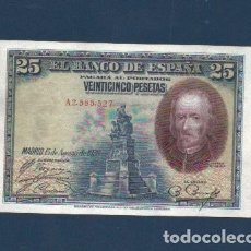 Billetes españoles: 25 PTAS DE 1928 SC. DE LOS QUE CIRCULARON ANTES DE LA GUERRA CIVIL. Lote 262429430