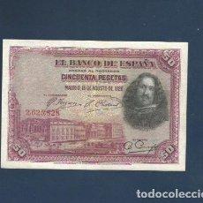 Billetes españoles: 50 PTAS DE 1928 . SIN SERIE . EBC. LEER. Lote 262430830