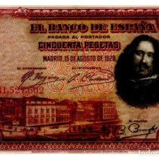 Billetes españoles: BILLETE DE ESPAÑA DE 50 PESETAS DE 1928 CIRCULADO VELAZQUEZ. Lote 262507375