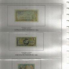 Billetes españoles: JUEGO COMPLETO DE HOJAS EDIFIL DE BILLETES DE ESPAÑA. MONTADAS EN 4 ALBUNES SEMI LUJO. Lote 262668460