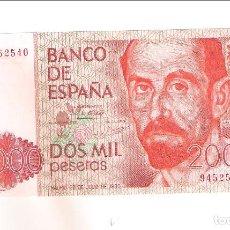Banconote spagnole: BILLETE DE 2.000 PESETAS DE JUAN CARLOS I DE 1980. SIN SERIE. SIN CIRCULAR- (R12). Lote 262765220