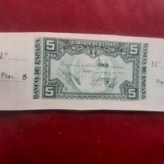Billets espagnols: BANCO DE BILBAO 1937 - 5 PESETAS CON MATRIZ - SC. Lote 262795575