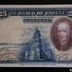 Billetes españoles: BILLETE PLANCHA DE 25 PESETAS ESPAÑA AÑO 1928. Lote 262796010