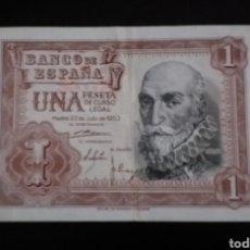 Billetes españoles: BILLETE DE 1 PESETA ESPAÑA 1951. Lote 262803355