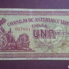 Billetes españoles: 1 PESETA ASTURIAS Y LEÓN. Lote 263096780