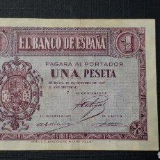 Billetes españoles: 1 PESETA 1937 EBC. Lote 263097035