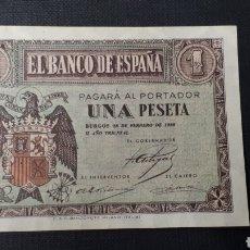 Billetes españoles: 1 PESETA 1938 FEBRERO SC SERIE D. Lote 263097060