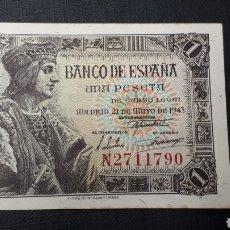 Billetes españoles: 1 PESETA 1943 SC SERIE N. Lote 263097195