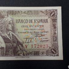 Billetes españoles: 1 PESETA 1945 SC SERIE A. Lote 263097240