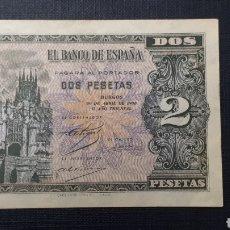 Billetes españoles: 2 PESETAS 1938 SC. Lote 263097325