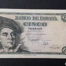 Billetes españoles: 5 PESETAS 1948 SC SERIE E. Lote 263097575