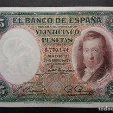 Billetes españoles: BILLETE DE 25 PESETAS DE 1931 VICENTE LOPEZ ESTADO SC SIN CIRCULAR. Lote 263200315