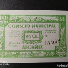 Billetes españoles: 50 CENTIMOS DE 1937.... CONSEJO MUNICIPAL DE ALCAÑIZ....SC......EL DE LAS FOTOS. Lote 263206945