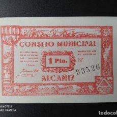 Billetes españoles: 1 PESETA DE 1937.... CONSEJO MUNICIPAL DE ALCAÑIZ....SC......EL DE LAS FOTOS. Lote 263207030