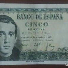 Billetes españoles: 5 PESETAS 1951 ( SERIE Q) EBC. Lote 253306600
