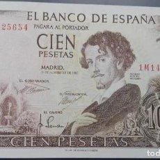 Banconote spagnole: 100 PESETAS 1965 (SERIE 1M) EBC. Lote 110092703