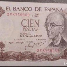 Billetes españoles: 100 PESETAS 1970 (SERIE 2V) SC-. Lote 226623315
