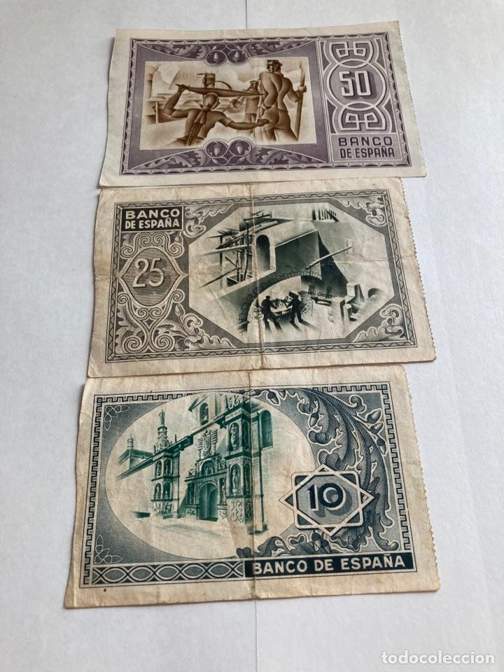 Billetes españoles: Lote billetes banco de España Bilbao año 1937. - Foto 2 - 266075323