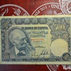 Billetes españoles: BILLETE 500 PESETAS - 15 NOVIEMBRE 1951 - MARIANO BENNLLIURE. Lote 266458513