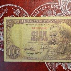 Billetes españoles: CIEN PESETAS 19 FEBRERO 1946 SERIE B FRANCISCO GOYA. Lote 266458938