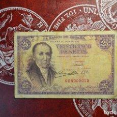 Billetes españoles: 25 PESETAS. MADRID 19 FEBRERO 1946. FLOREZ ESTRADA. POLA DE SOMIEDO. OVIEDO. Lote 266459073