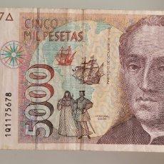 Billetes españoles: BILLETE DE ESPAÑA 5000 PTS AÑO 1992 SERIE 1Q. Lote 267162659