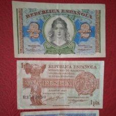 Billetes españoles: LOTE BILLETES REPÚBLICA ESPAÑOLA 1937/ 1938. Lote 267253644