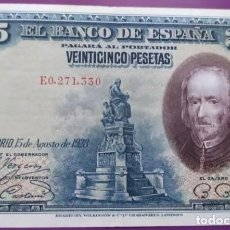 Banconote spagnole: 25 PESETAS 1928 ( SERIE E 0271330) EBC-. Lote 238185795