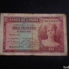 Banconote spagnole: BILLETE DE 10 PESETAS ESPAÑA AÑO 1935. Lote 267413349