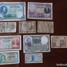 Billetes españoles: CONJUNTO DE 10 BILLETES SEGUNDA REPUBLICA ESPAÑOLA 1937- 1938. Lote 267546004