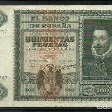 Banconote spagnole: BILLETE DE 500 PESETAS DE 1940 - JUAN DE AUSTRIA. Lote 268128929
