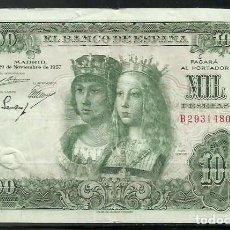 Banconote spagnole: BILLETE DE 1000 PESETAS DE 1957 . REYES CATOLICOS ( BONITO). Lote 268144719
