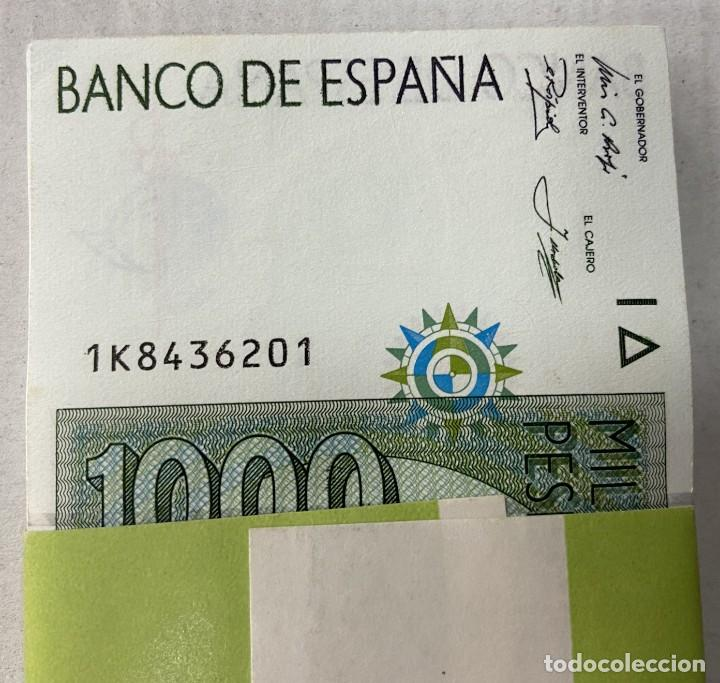 OFERTA TACO DE 100 BILLETES EN FAJO DE FNMT NUEVOS ESPAÑA 1000 PESETAS 1992 (Numismática - Notafilia - Billetes Españoles)