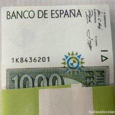 Notas espanholas: OFERTA TACO DE 100 BILLETES EN FAJO DE FNMT NUEVOS ESPAÑA 1000 PESETAS 1992. Lote 268149459