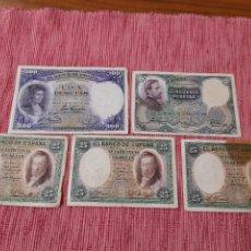 Banconote spagnole: LOTE BILLETES ANTIGUOS ESPAÑOLES. 1. Lote 268155494