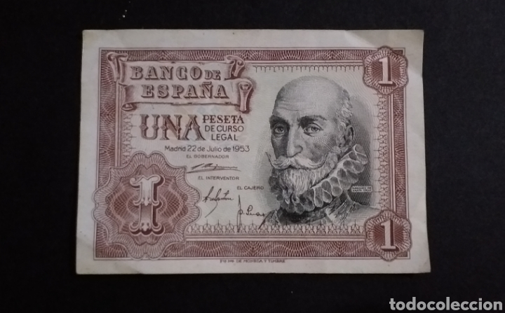 BILLETE DE 1 PESETA ESPAÑA AÑO 1953 (Numismática - Notafilia - Billetes Españoles)