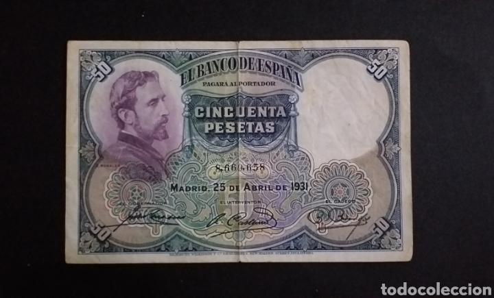 BILLETE DE 50 PESETAS ESPAÑA AÑO 1931 (Numismática - Notafilia - Billetes Españoles)