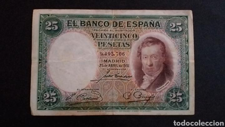 BILLETE DE 25 PESETAS ESPAÑA AÑO 1931 (Numismática - Notafilia - Billetes Españoles)