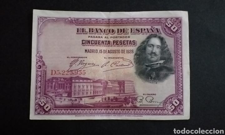 BILLETE DE 50 PESETAS ESPAÑA AÑO 1928 (Numismática - Notafilia - Billetes Españoles)