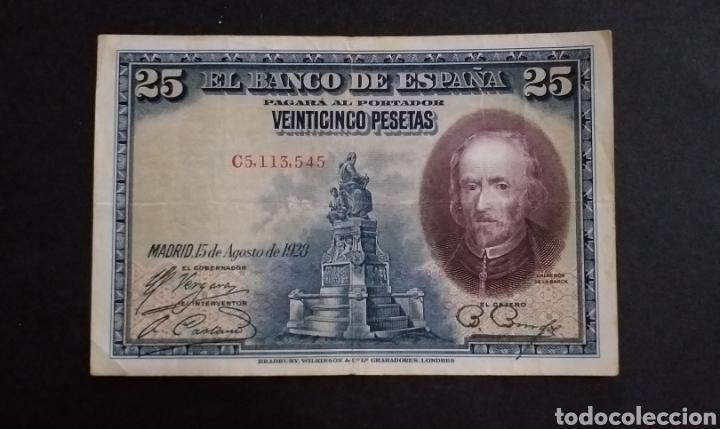 BILLETE DE 25 PESETAS ESPAÑA AÑO 1928 (Numismática - Notafilia - Billetes Españoles)