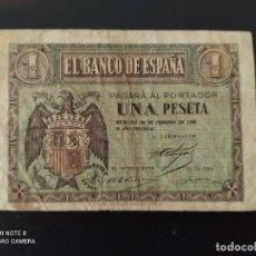 Banconote spagnole: 1 PESETA DE 1938..OJO....FEBRERO......SERIE E... BONITO....ES EL DE LAS FOTOS. Lote 268472469