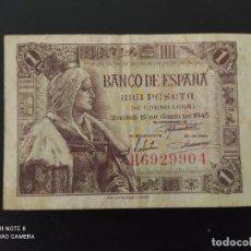 Banconote spagnole: 1 PESETA DE 1945.....SERIE H ... BONITO......ES EL DE LAS FOTOS. Lote 268472794