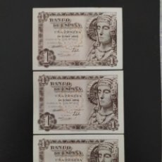 Banconote spagnole: TRIO CORRELATIVO DE 1 PESETA DE 1948....SERIE M...SIN CIRCULAR .......ES EL DE LAS FOTOS. Lote 268472994