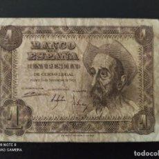 Banconote spagnole: 1 PESETA DE 1951....SERIE C ....ES EL DE LAS FOTOS. Lote 268473134