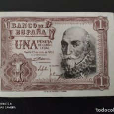 Banconote spagnole: 1 PESETA DE 1953....SERIE Q...MUY BONITO......ES EL DE LAS FOTOS. Lote 268473159