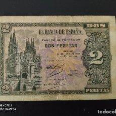 Banconote spagnole: 2 PESETAS.DE 1938....SERIE C.... BONITO Y ESCASO.....ES EL DE LAS FOTOS. Lote 268473324