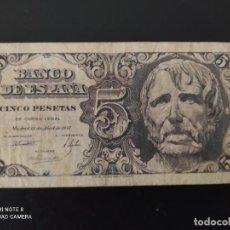 Banconote spagnole: 5 PESETAS.DE 1947....SERIE B.....BONITO Y MUY ESCASO.. .....ES EL DE LAS FOTOS. Lote 268473419