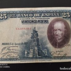 Banconote spagnole: 25 PESETAS.DE 1928....SERIE C....MUY BONITO.. .....ES EL DE LAS FOTOS. Lote 268473874
