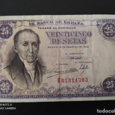 Banconote spagnole: 25 PESETAS.DE 1946.....SERIE E..... BONITO Y ESCASO.. .....ES EL DE LAS FOTOS. Lote 268473934